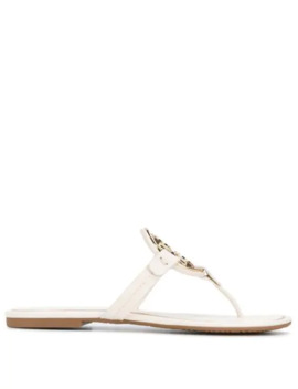 Logo Plaque Sandals by Tory Burch
