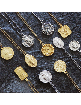 Coin Necklace 925 Silver Choker Kolye Gold Pendant Charm Minimalism Vintage Boho Bijoux Femme Collier Necklace Women Jewelry by Ali Express.Com