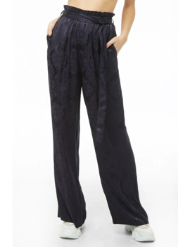 Damask Jacquard Wide Leg Pants by Forever 21