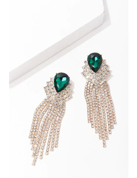 Faux Gem Clip On Duster Earrings by Forever 21