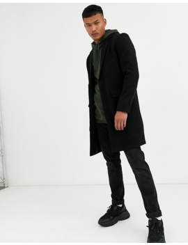 Good For Nothing Overcoat In Black by Good For Nothing