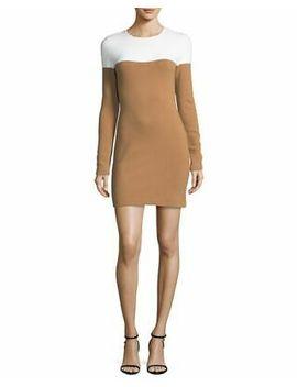 $548 Diane Von Furstenberg Wool Blend Knit Colorblock Dress Large Nwot by Ebay Seller