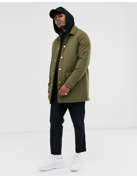 Asos Design Single Breasted Mac In Khaki by Asos Design