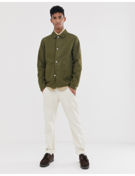 Asos Design Denim Worker Jacket In Khaki by Asos Design