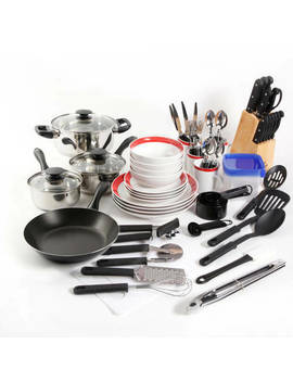 Gibson Home Essential Total Kitchen 83 Piece Combo Set Black by Gibson