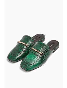 Lopez Green Backless Loafers by Topshop