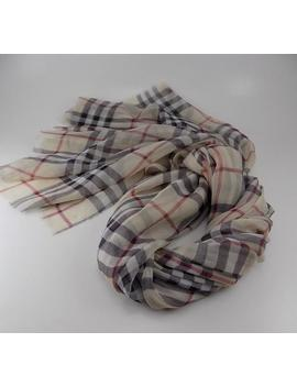 Handmade Silk Scarf     Plaid by Etsy