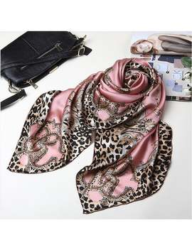 Leopard Print Pink Chinese Mulberry Silk Hand Rolled Scarf by Etsy