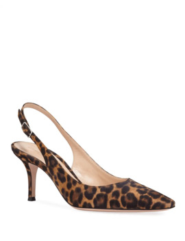 Leopard Print Slingback Pumps by Gianvito Rossi