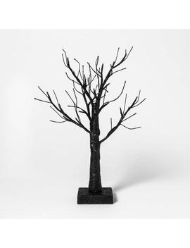 """18"""" Led Lit Glitter Tree Decorative Halloween Prop Black   Hyde & Eek! Boutique by Hyde & Eek! Boutique"""