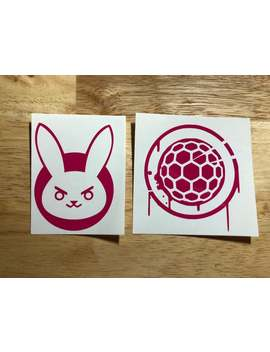 Overwatch D.Va And Zarya Vinyl Decals   Multiple Colors Available! by Etsy