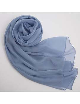 Light Blue Silk Scarf   Blue Mulberry Silk Chiffon Scarf   As2015 16 by Etsy
