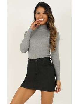 Lust For Life Knit Top In Grey Marle by Showpo Fashion