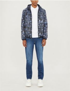 Graphic Print Padded Jacket by Emporio Armani