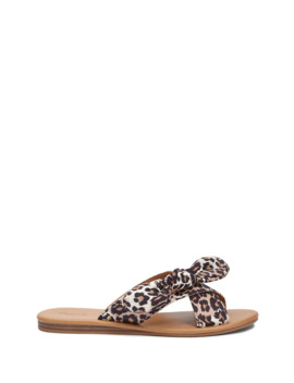 Qupid Leopard Print Knot Front Sandals by Forever 21