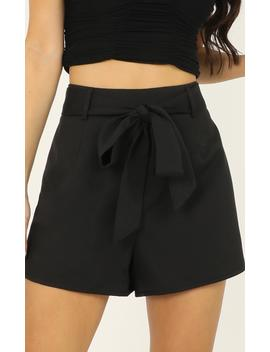 Resolution Shorts In Black by Showpo Fashion