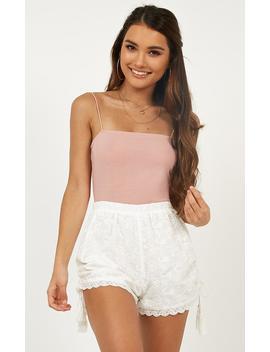 Island Escapade Broidery Shorts In  White by Showpo Fashion