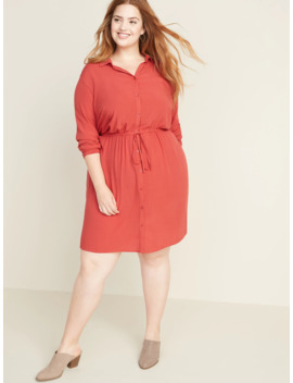 Waist Defined No Peek Plus Size Shirt Dress by Old Navy