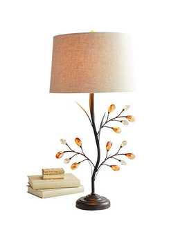 Crystal Leaf Table Lamp by Pier1 Imports