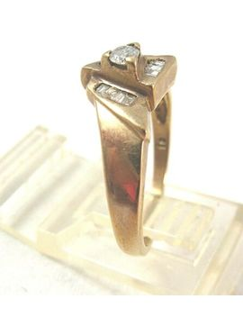.32 Tcw Baguettes Diamond Vintage Ring 2.9 Gr Yellow Gold Size 7   Gorgeous!! by Ebay Seller
