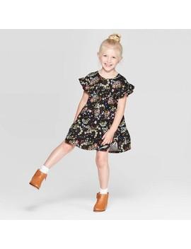 Toddler Girls' Paisley Dress   Art Class Black by Art Class Black
