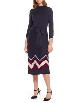 Chevron Sweater Dress by Vince Camuto
