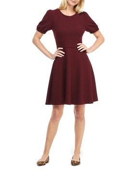 Kristen Ribbed Fit & Flare Sweater Dress by Gal Meets Glam Collection