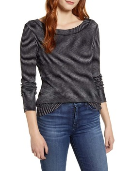 Long Sleeve Rib Tee by Caslon®