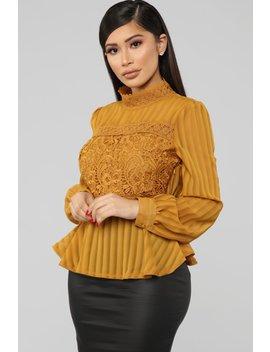 Always Sleek Top   Mustard by Fashion Nova