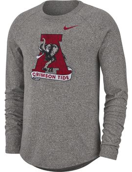 Nike Men's Alabama Crimson Tide Grey Marled Raglan Long Sleeve T Shirt by Nike