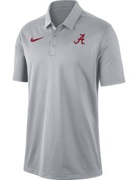 Nike Men's Alabama Crimson Tide Grey Dri Fit Franchise Polo by Nike