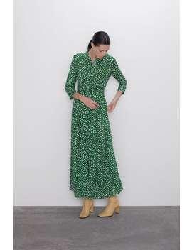 Long Printed Dress Maxi Dresses Woman by Zara