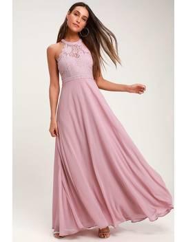 Dance All Evening Mauve Purple Lace Maxi Dress by Lulus