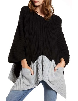 Rib Knit Poncho by Treasure & Bond
