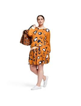 Women's Plus Size Leopard Print Long Sleeve Crewneck Pullover Sweater   3.1 Phillip Lim For Target Orange by 3.1 Phillip Lim For Target Orange