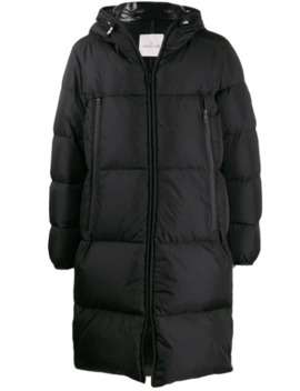 Logo Bands Padded Coat by Moncler