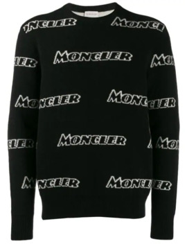 Logo Intarsia Sweater by Moncler
