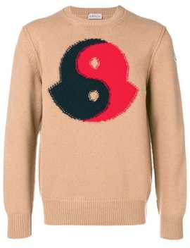 Logo Patch Sweater by Moncler