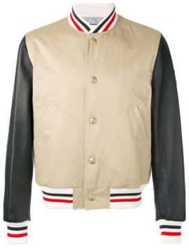Striped Detail Bomber Jacket by Moncler