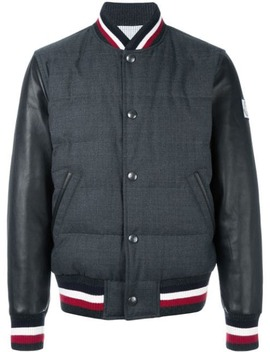 Striped Detail Bomber by Moncler