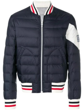 Padded Down Bomber Jacket by Moncler