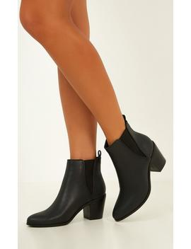 Billini   Omari Boots In Black Burnish by Showpo Fashion