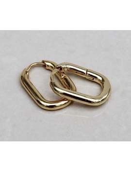 Chunky Small Gold Square Hoop Earrings , Square Earrings , Gold Huggies Huggy Hoops , Geometric Hoops , Statement Wide Gold Hoops by Etsy