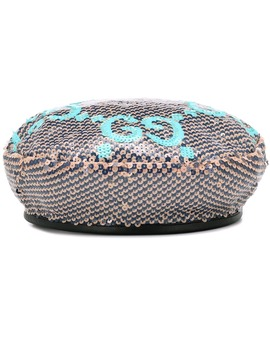Gg Sequined Beret by Gucci