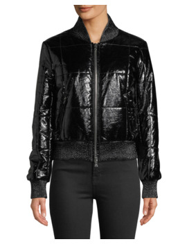 Malin Quilted Zip Front Bomber Jacket by Veronica Beard