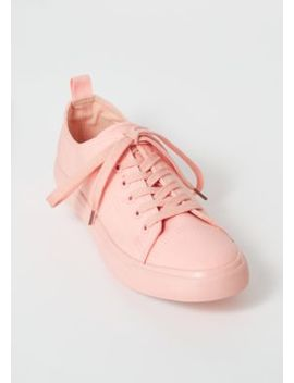 Pink Canvas Lace Up Sneakers by Rue21