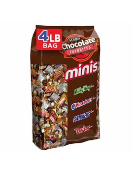 Snickers, Twix, Milky Way & More Minis Size Chocolate Candy Bars Variety Mix, 67.2 Ounce, 240 Piece Bag by Mixed