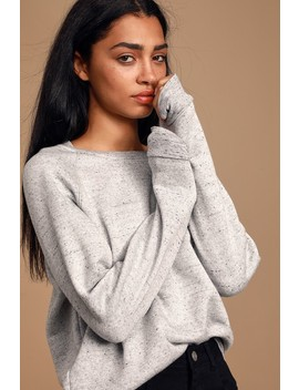 Workout Plans Heather Grey Sweatshirt by Project Social T