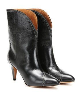 Dythey Leather Ankle Boots by Isabel Marant