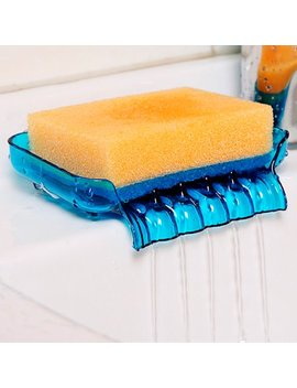 Tsv Shower Soap Box Dish Storage Plate Tray Holder Case Container Suction For Bathroom Kitchen 5 X 3.5 X 1.3 In by Tsv